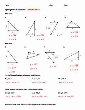 The Pythagorean theorem Worksheet Elegant Pythagorean theorem Geometry Worksheet by Pecktabo Math