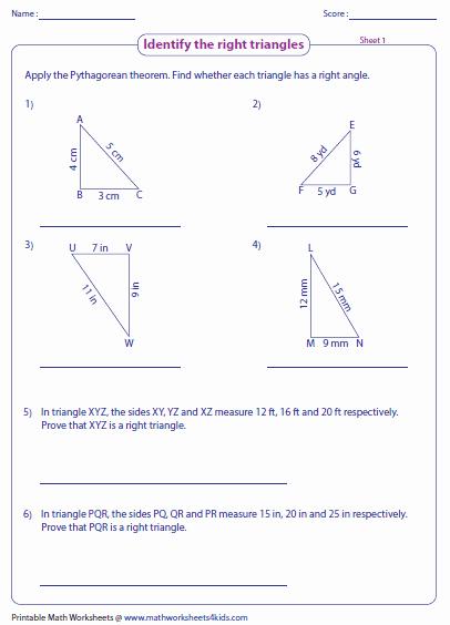 The Pythagorean theorem Worksheet Elegant Pythagorean theorem Worksheets