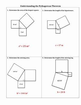 The Pythagorean theorem Worksheet Elegant Understanding the Pythagorean theorem Worksheet by No