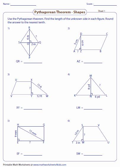 The Pythagorean theorem Worksheet Fresh Pythagorean theorem Worksheets