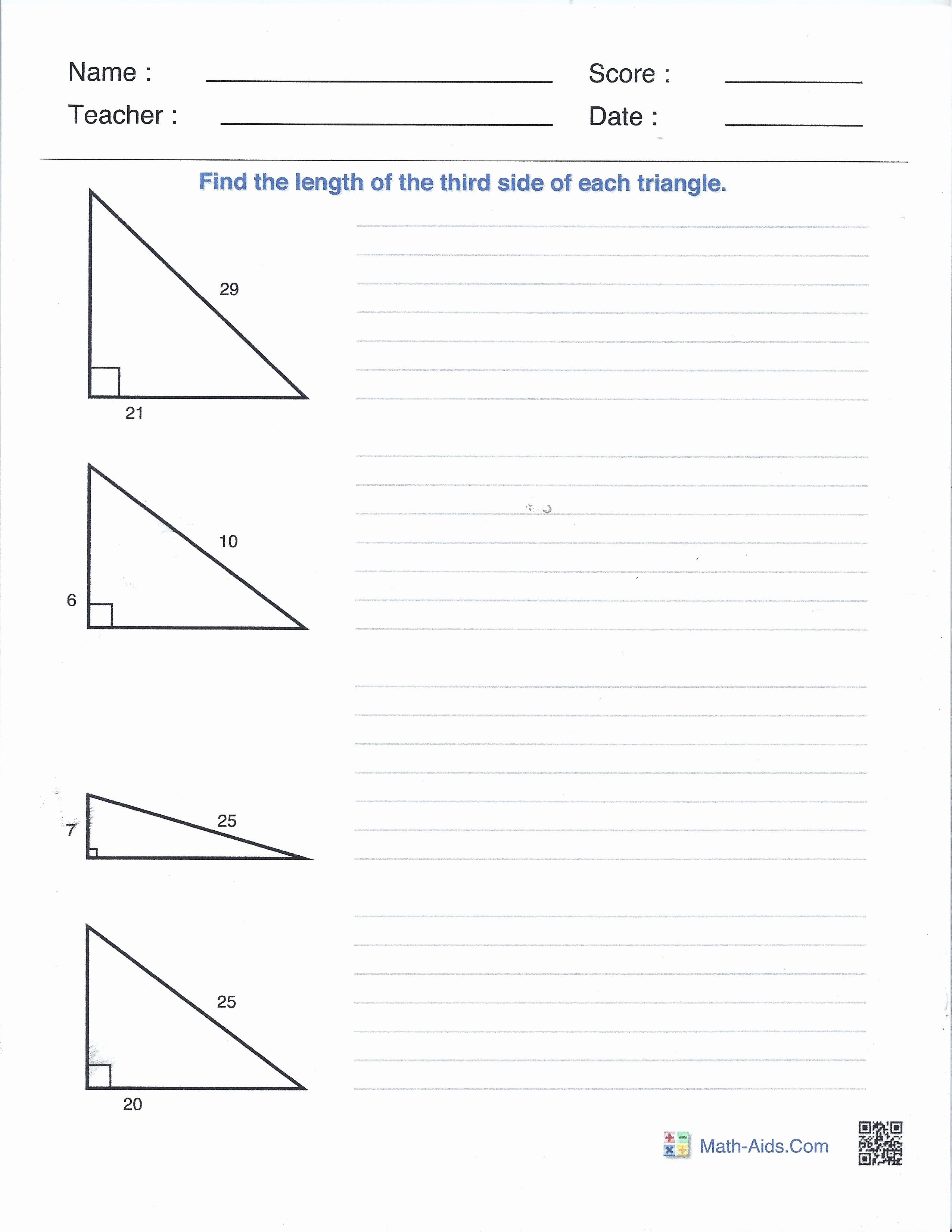 The Pythagorean theorem Worksheet Unique Right Angles and the Pythagorean theorem