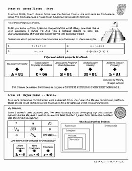 The Real Number System Worksheet Luxury Csi Algebra Unit 2 the Real Number System by Clark