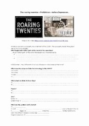 The Roaring Twenties Worksheet Elegant English Exercises Roaring Twenties