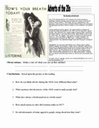 The Roaring Twenties Worksheet Lovely 20s & 30s Worksheets the Roaring Twenties