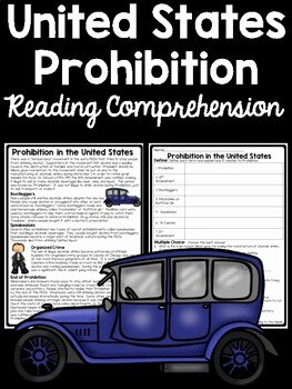 The Roaring Twenties Worksheet Luxury Prohibition Reading Prehension Worksheet Roaring