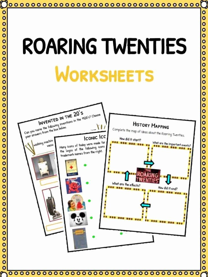 The Roaring Twenties Worksheet Luxury the Roaring Twenties Facts Worksheets & Historic