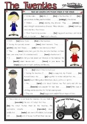 The Roaring Twenties Worksheet New English Worksheets Simple Worksheets Page 89