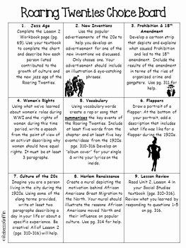 The Roaring Twenties Worksheet New Roaring Twenties Worksheets Id 15 Worksheet