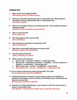 The Rock Cycle Worksheet Best Of Rock Cycle Worksheet with Questions by the Sci Guy