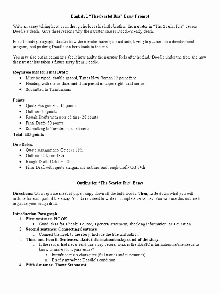 The Scarlet Ibis Worksheet Answers Luxury the Scarlet Ibis Worksheet the Best Worksheets Image