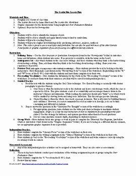 The Scarlet Ibis Worksheet Fresh Lesson the Scarlet Ibis by James Hurst Lesson Plan