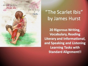 "The Scarlet Ibis Worksheet Luxury James Hurst's ""the Scarlet Ibis"" – 20 Mon Rigorous Core"