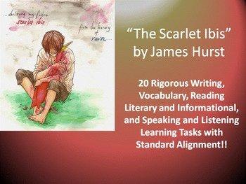 """The Scarlet Ibis Worksheet Luxury James Hurst's """"the Scarlet Ibis"""" – 20 Mon Rigorous Core"""