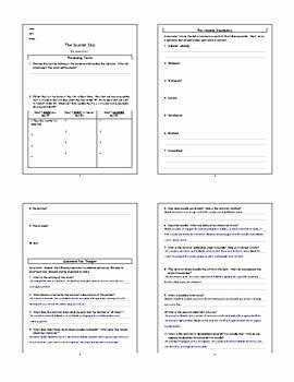 The Scarlet Ibis Worksheet New Lesson the Scarlet Ibis by James Hurst Lesson Plan