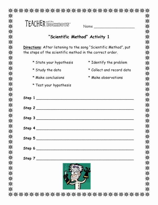 The Scientific Method Worksheet Beautiful Scientific Method Activity 8th 10th Grade Worksheet