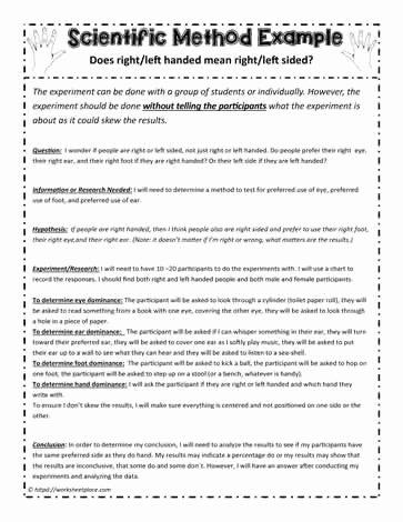 The Scientific Method Worksheet Unique Example Of the Scientific Method Worksheets