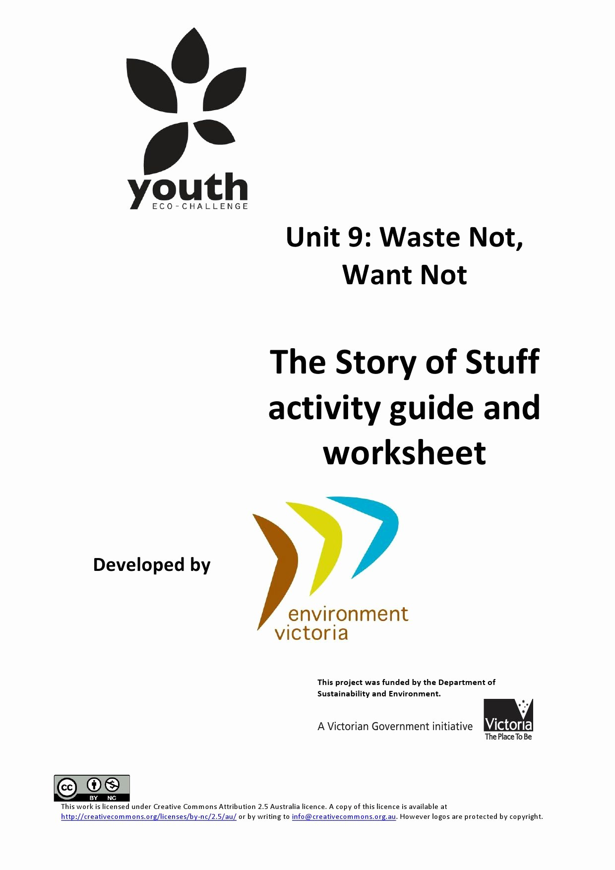 The Story Of Stuff Worksheet Best Of Vcal Unit 9 Story Of Stuff Activity Guide and Worksheet