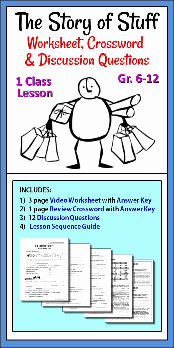 The Story Of Stuff Worksheet Fresh the Story Of Stuff Worksheet Crossword and Discussion