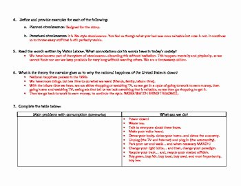 "The Story Of Stuff Worksheet Lovely ""story Of Stuff"" Workshee by Ms G S Teaching Ideas"