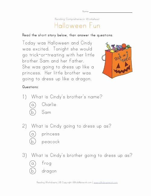 The Story Of Stuff Worksheet New Halloween Reading Prehension Worksheet