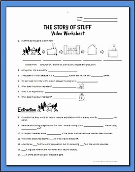 The Story Of Stuff Worksheet New the Story Of Stuff Worksh by Tangstar Science