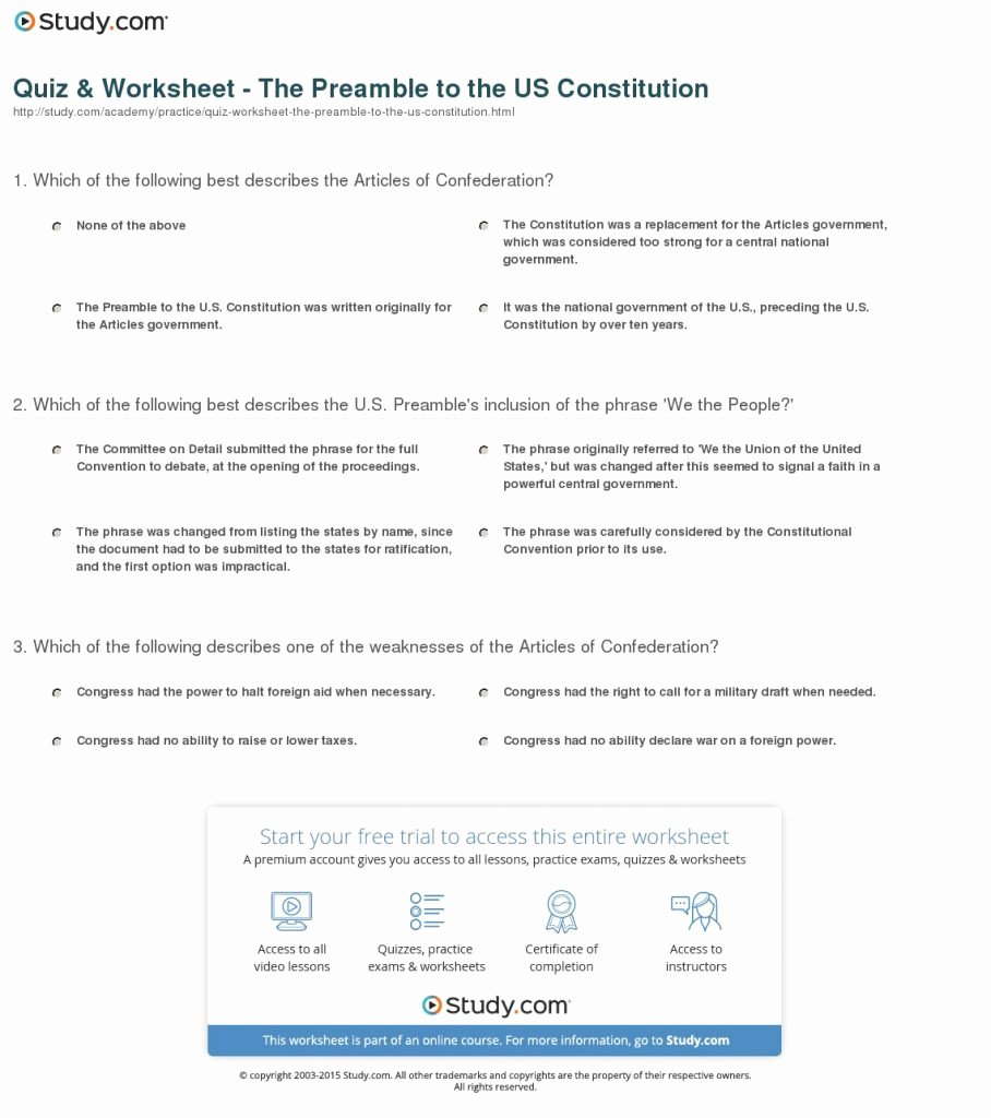 The Us Constitution Worksheet Answers Inspirational the Birth Constitution Worksheet Answer Key Math