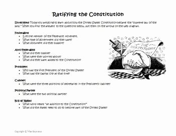 The Us Constitution Worksheet Fresh Constitution Creation and Ratification Web Worksheet