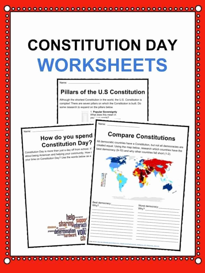 The Us Constitution Worksheet Fresh Constitution Day Citizens Day Facts Worksheets