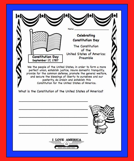 The Us Constitution Worksheet Luxury Kafy S Books U S Constitution Day Sept 17