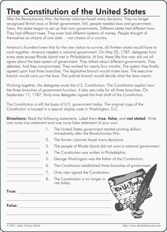 The Us Constitution Worksheet Unique Best Inventive Constitution Printable Worksheets