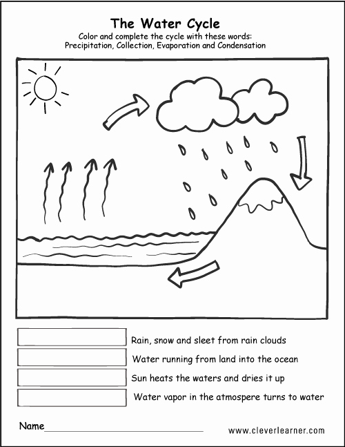 The Water Cycle Worksheet Answers Beautiful Printable Water Cycle Worksheets for Preschools