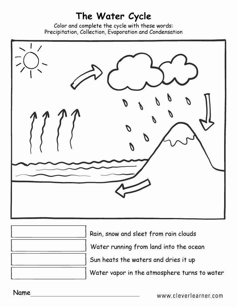 The Water Cycle Worksheet Answers Elegant Printable Water Cycle Worksheets for Preschools