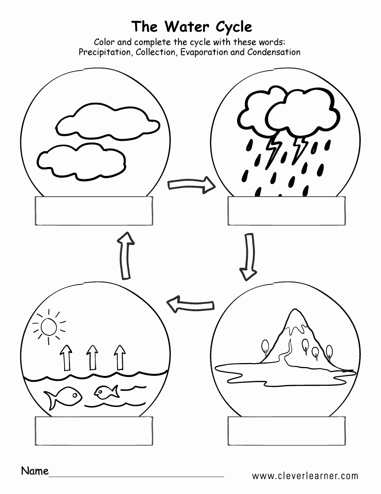 The Water Cycle Worksheet Answers Luxury Printable Water Cycle Worksheets for Preschools