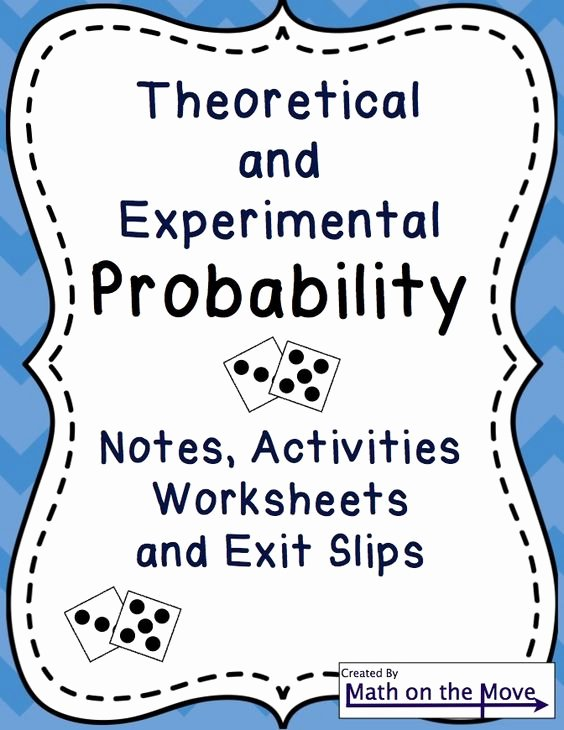 Theoretical and Experimental Probability Worksheet Beautiful Pinterest • the World's Catalog Of Ideas
