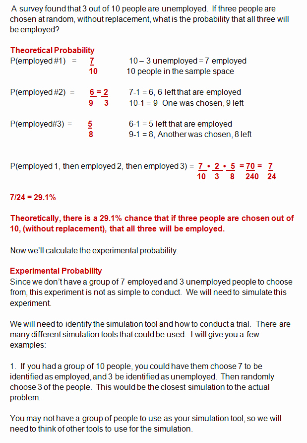 Theoretical and Experimental Probability Worksheet Beautiful theoretical Probability Versus Experimental Probability