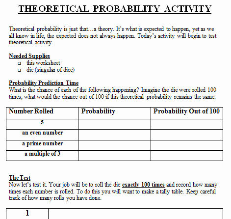 Theoretical and Experimental Probability Worksheet Luxury Mon Core Standards Archives Math Warehouse S Lesson Plans