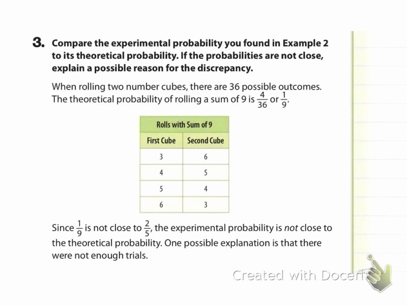 Theoretical and Experimental Probability Worksheet Luxury theoretical Probability Worksheet Free Printable Worksheets