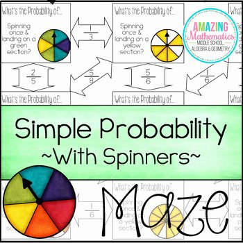 Theoretical and Experimental Probability Worksheet New theoretical Probability Of Simple events Maze with