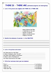 There is there are Worksheet Awesome English Worksheets there is there are Affirmative