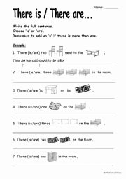 There is there are Worksheet Best Of there is there are with Furniture and Plurals Esl