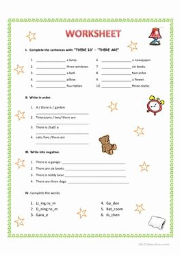 There is there are Worksheet Elegant 71 Free Esl there is there are Worksheets