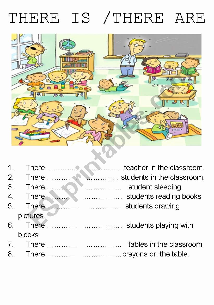 There is there are Worksheet Elegant there is there are Esl Worksheet by Sirenetta