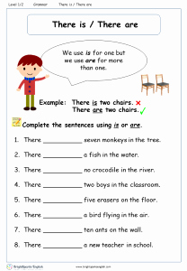There is there are Worksheet Elegant This and that Worksheet – English Treasure Trove