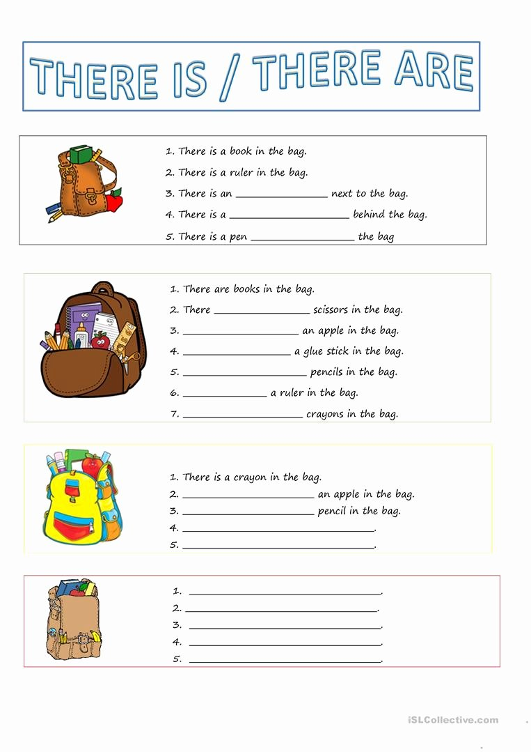 There is there are Worksheet Inspirational there is there are Worksheet Free Esl Printable