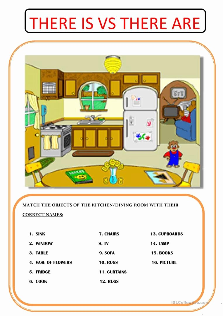 There is there are Worksheet Inspirational there is Vs there are Worksheet Free Esl Printable