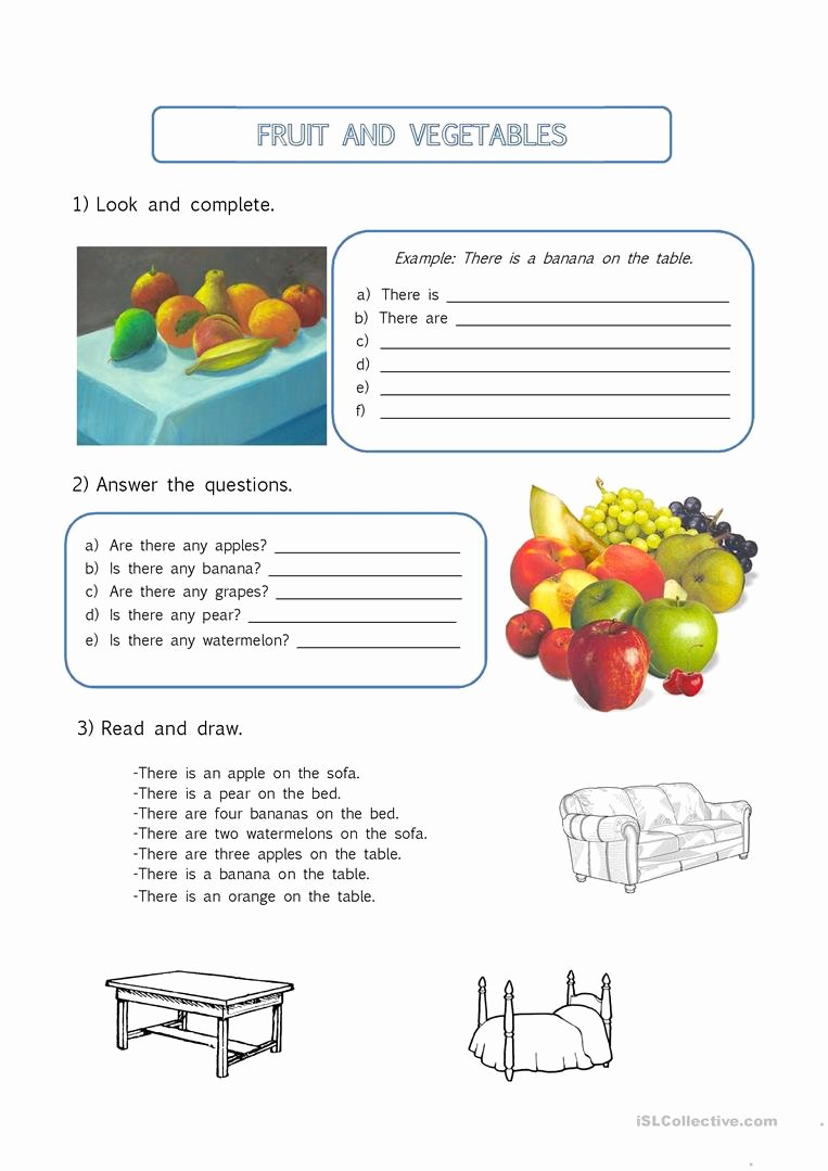 There is there are Worksheet New there is there are Fruit Vocabulary Worksheet Free