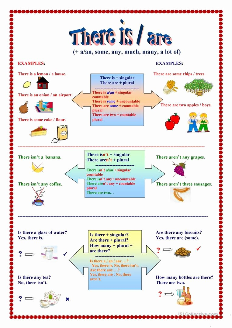 There is there are Worksheet Unique there is are Food Key Updated Worksheet Free Esl