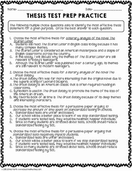Thesis Statement Practice Worksheet Fresh thesis Statement Practice Worksheets by Erika forth