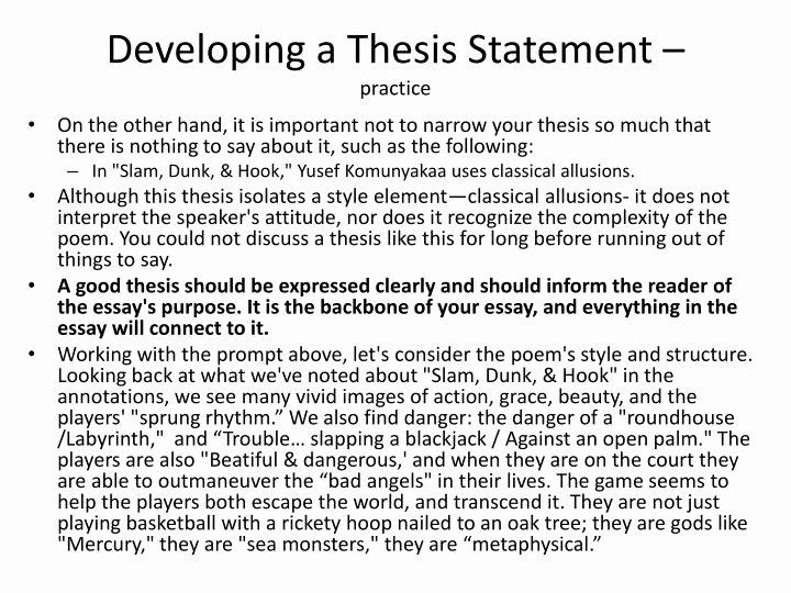 Thesis Statement Practice Worksheet Unique Practice Writing thesis Statements Answers Csusm X Fc2