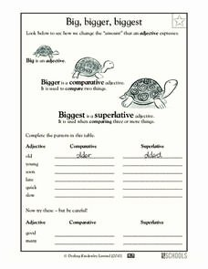 Third Grade Writing Worksheet Awesome Big Bigger Biggest Worksheet for Pre K Kindergarten